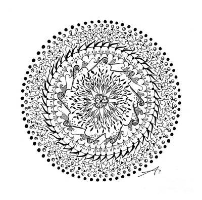 Mandala Drawing - Turning Point by Ana V Ramirez