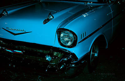 Turquoise Chevy Print by DigiArt Diaries by Vicky B Fuller