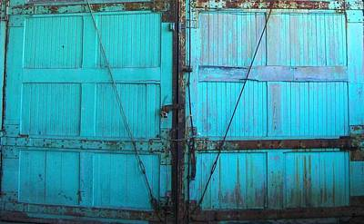 Turquoise Doors Print by Edmund Akers