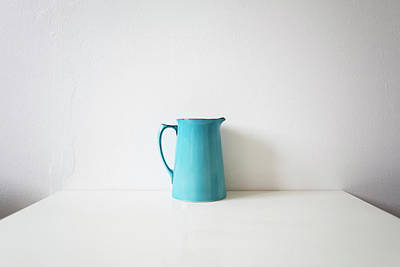 Still Life Photograph - Turquoise Jug by Mary Gaudin