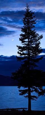 Turquoise Lake Twilight Print by Adam Pender