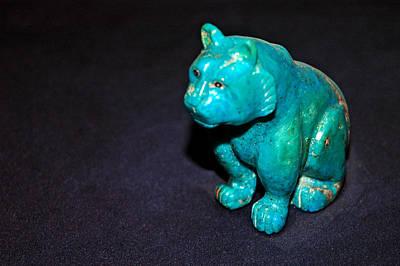 Carved Photograph - Turquoise Tiger by LeeAnn McLaneGoetz McLaneGoetzStudioLLCcom
