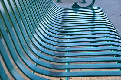 Park Benches Photograph - Turquoise Wave by Jan Amiss Photography