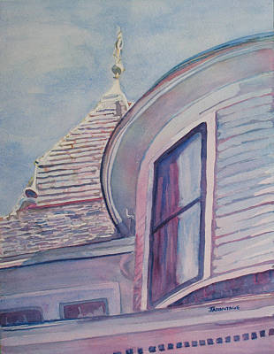 Queen Anne Painting - Turret And Copula  by Jenny Armitage