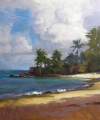 Beach Landscape Painting - Turtle Beach by Richard Robinson