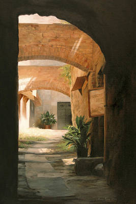 Archways Painting - Tuscan Arches by Anna Rose Bain
