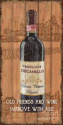 Tuscan Chianti 1 Print by Debbie DeWitt