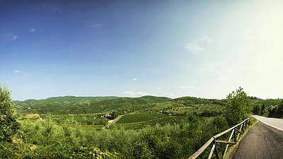 Tuscan Roads Print by Devin Hultgren