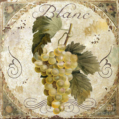 Grape Painting - Tuscan Table Blanc Wine by Mindy Sommers