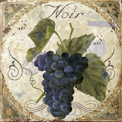 Vines Painting - Tuscan Table Pinot Noir by Mindy Sommers