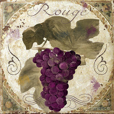 Vines Painting - Tuscan Table Rouge by Mindy Sommers
