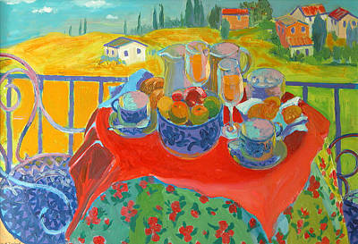 Dining Room Italian Painting - Tuscan Terrace by William Ireland