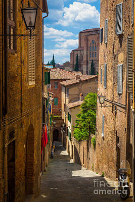 Siena Photograph - Tuscan Town by Inge Johnsson