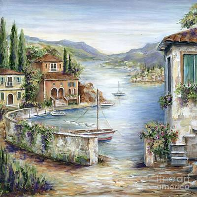 Tuscan Villas By The Sea II Print by Marilyn Dunlap