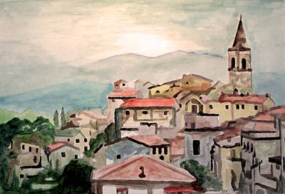 Tuscany Landscape Print by Jim Phillips