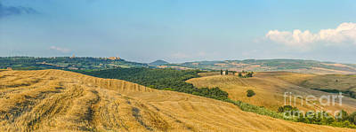Tuscany Landscape With Rolling Hills At Sunset, Val D'orcia, Ita Print by JR Photography