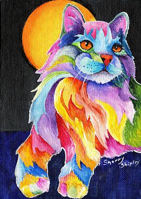 Tutti Fruiti Kitty Print by Sherry Shipley