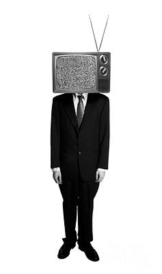 Static Photograph - Tv Head by Diane Diederich