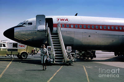 Fixed Wing Multi Engine Photograph - Twa Boeing 707, August 1965 by Wernher Krutein