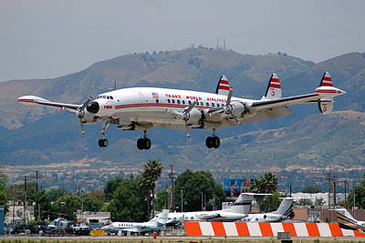 Airliners Photograph - Twa Lockheed Super Constellation N6937c by Brian Lockett