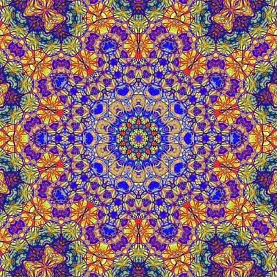 Twelveth Mandala Of Life For A Rosy Spring Print by John Groves
