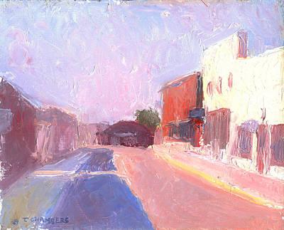 Twentyfirst Street  Early Am Print by Timothy Chambers