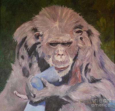 Twiggy Painting - Twiggy by Barbara Moak