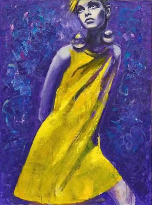 Twiggy Painting - Twiggy. Eternal Youth. by Irina Sergeyeva