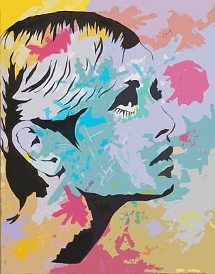 Twiggy Painting - Twiggy Pop Art Portrait by Andrew  Orton