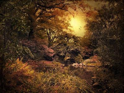 Twilight Autumn Garden Print by Jessica Jenney