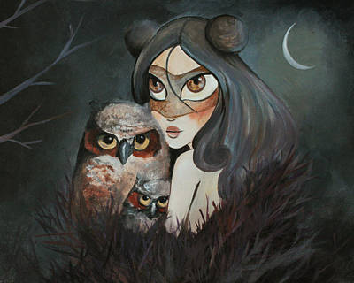 Twilight Print by Dania Piotti