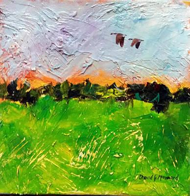 Painting - Twilight Geese  by David  Maynard