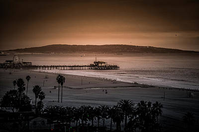 Rollercoaster Photograph - Twilight Glow On The Pier by Gene Parks