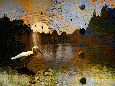 Cracks Digital Art - Twilight On The River by Robert Ball