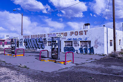 Weatherworn Photograph - Twin Arrows Trading Post by Garry Gay