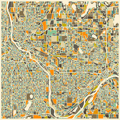 Twin Cities Print by Jazzberry Blue