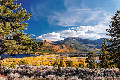 Twin Lakes And Quail Mountain - Independence Pass - In Late September - Rocky Mountains Colorado Print by Silvio Ligutti