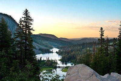 Mammoth Photograph - Twin Lakes by Chris Brannen