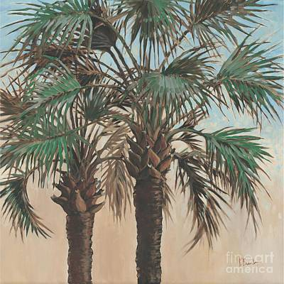 Palmettos Painting - Twin Palms by Paul Brent