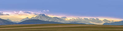 Twin Peaks Panorama View From The Agriculture Plains Print by James BO  Insogna