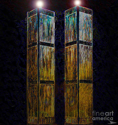 Terrorism Painting - Twin Towers Of Freedom by David Lee Thompson