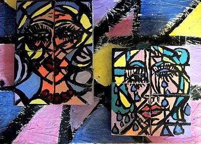 Acrylics Mixed Media - Twins by Lisa Deneka