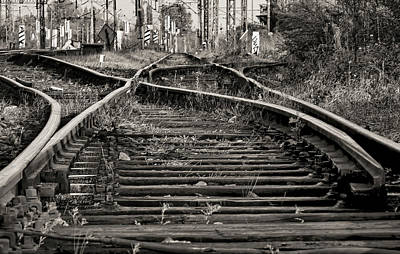 Brakeman Photograph - Twisted Railroad Tracks To Somewhere by Daniel Hagerman