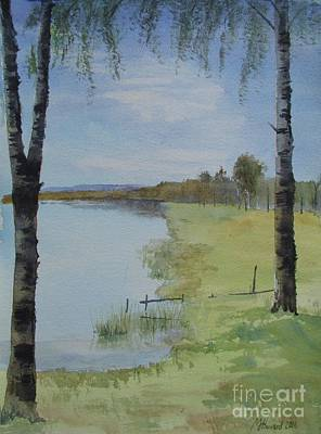 Two Birches Original by Martin Howard