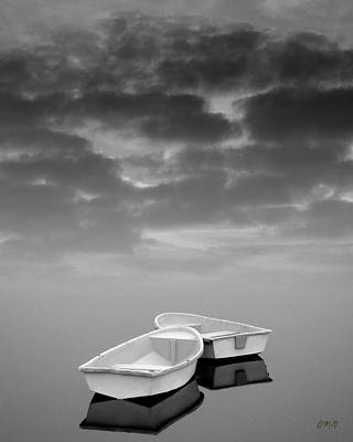 Montage Photograph - Two Boats And Clouds by Dave Gordon