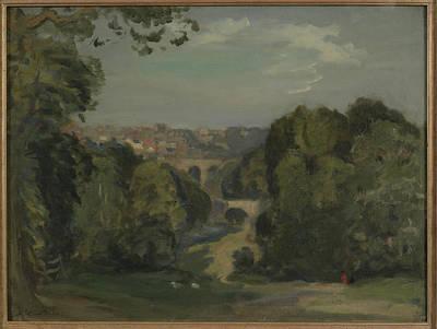 Steer Painting - Two Bridges by Philip Steer