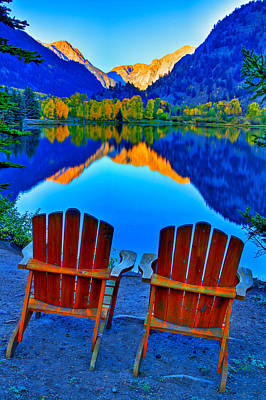 Rocky Mountains Photograph - Two Chairs In Paradise by Scott Mahon