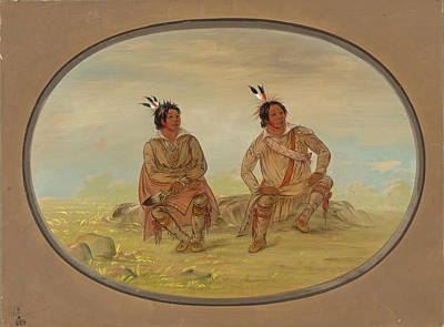 Painting - Two Choctaw Indians by George Catlin
