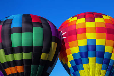 Gondola Photograph - Two Colorful Balloons by Garry Gay