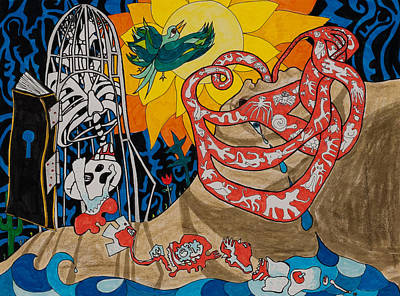 Tear Drawing - Two Creation Stories by Eliza Furmansky